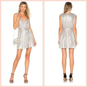 BB Dakota Aggie Wrap Silver Dress